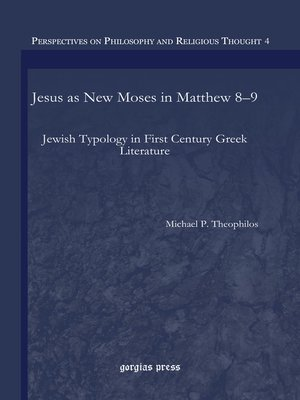 cover image of Jesus as New Moses in Matthew 8–9
