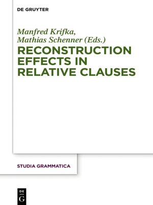 cover image of Reconstruction Effects in Relative Clauses
