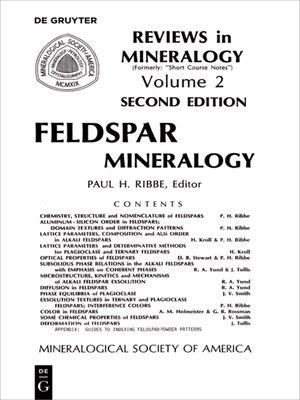 cover image of Feldspar Mineralogy