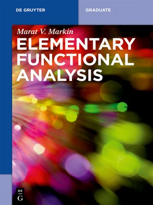 cover image of Elementary Functional Analysis