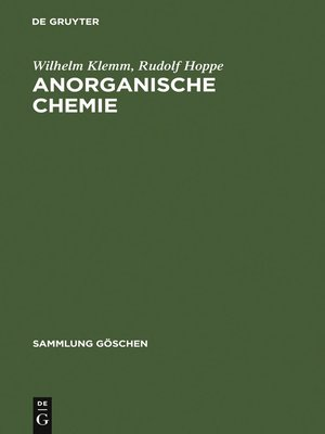 cover image of Anorganische Chemie