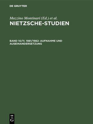 cover image of Aufnahme und Auseinandersetzung