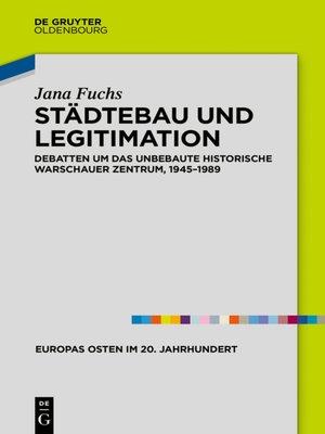 cover image of Städtebau und Legitimation