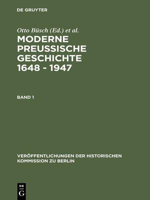 cover image of Moderne Preussische Geschichte 1648--1947