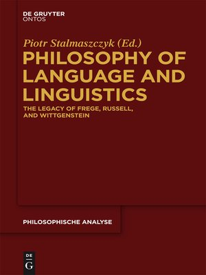 cover image of Philosophy of Language and Linguistics