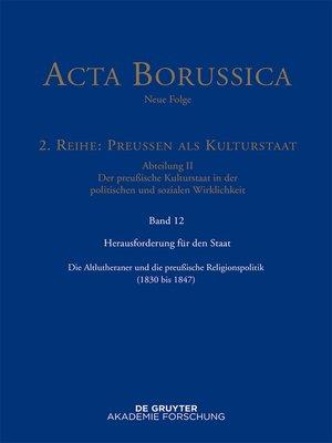 cover image of Herausforderung für den Staat