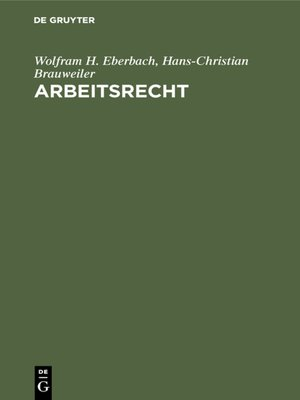 cover image of Arbeitsrecht