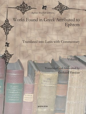 cover image of Works Found in Greek Attributed to Ephrem