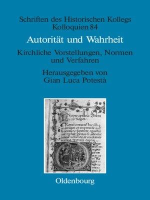 cover image of Autorität und Wahrheit