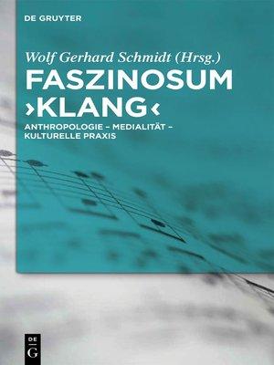 cover image of Faszinosum 'Klang'