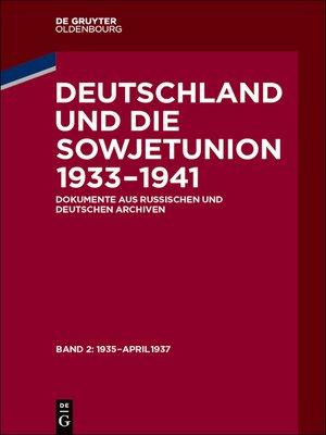 cover image of Januar 1935 – April 1937