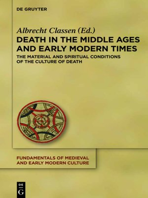 cover image of Death in the Middle Ages and Early Modern Times