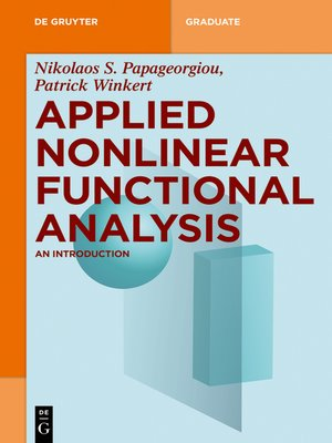 cover image of Applied Nonlinear Functional Analysis