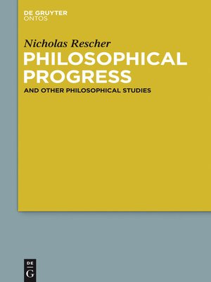 cover image of Philosophical Progress