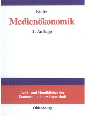 cover image of Medienökonomik