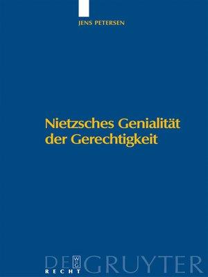 cover image of Nietzsches Genialität der Gerechtigkeit