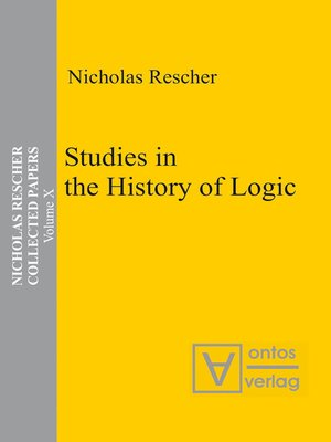 cover image of Studies in the History of Logic