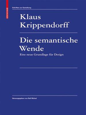 cover image of Die semantische Wende