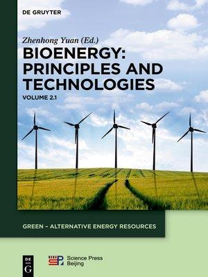 cover image of Bioenergy. Volume 1
