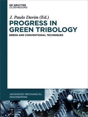 cover image of Progress in Green Tribology