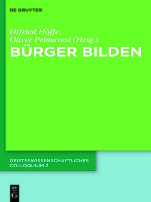 cover image of Bürger bilden