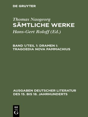 cover image of Dramen I