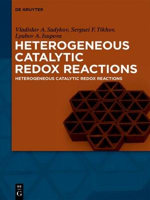 cover image of Heterogeneous Catalytic Redox Reactions