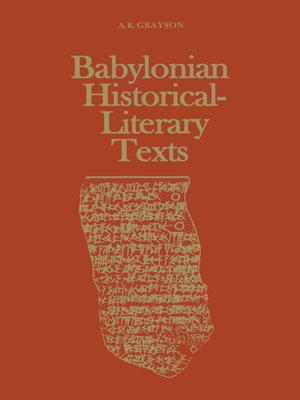 cover image of Babylonian Historical-Literary Texts