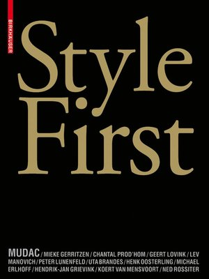 cover image of Style First