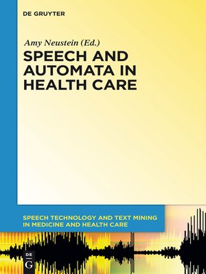 cover image of Speech and Automata in Health Care