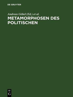 cover image of Metamorphosen des Politischen