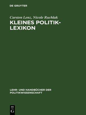 cover image of Kleines Politik-Lexikon