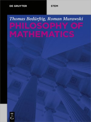 cover image of Philosophy of Mathematics