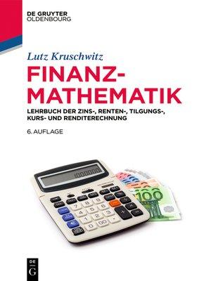 cover image of Finanzmathematik