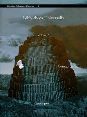 cover image of Bibliotheca Universalis
