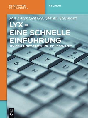 cover image of LyX--Eine schnelle Einführung