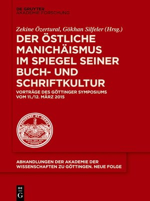 cover image of Der östliche Manichäismus im Spiegel seiner Buch- und Schriftkultur