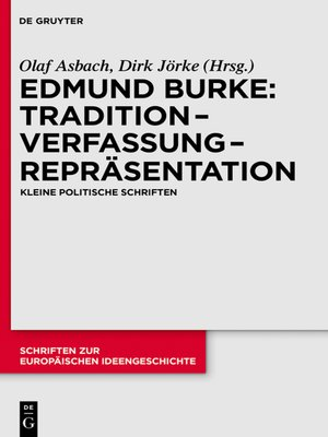 cover image of Tradition – Verfassung – Repräsentation