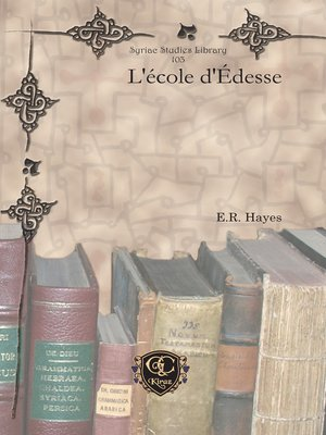 cover image of L'école d'Édesse