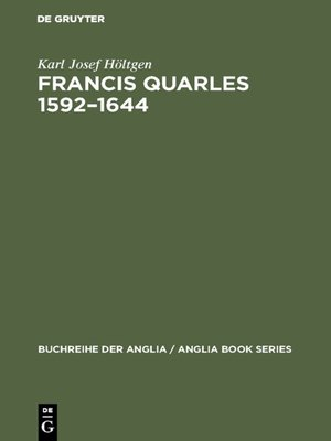 cover image of Francis Quarles 1592–1644