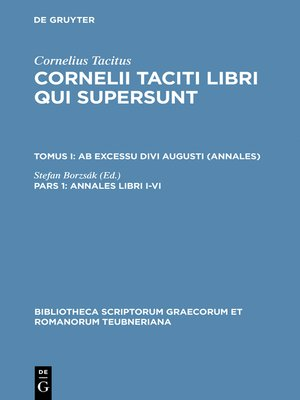 cover image of Annales libri I–VI
