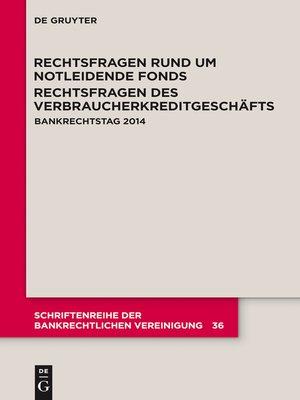 cover image of Rechtsfragen rund um notleidende Fonds. Rechtsfragen des Verbraucherkreditgeschäfts