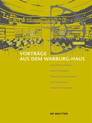 cover image of Vorträge aus dem Warburg-Haus