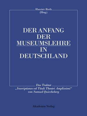 cover image of Der Anfang der Museumslehre in Deutschland