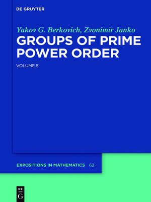 cover image of Groups of Prime Power Order, Volume 5