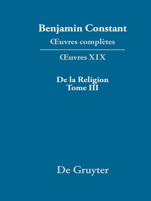cover image of De la Religion, considérée dans sa source, ses formes et ses développements, Tome III