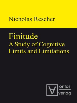 cover image of Finitude