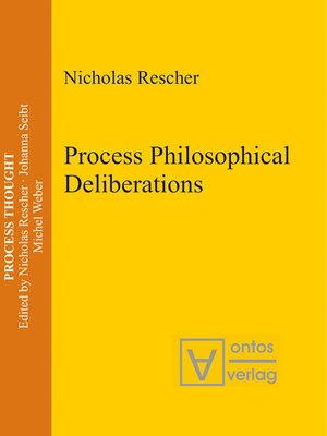 cover image of Process Philosophical Deliberations