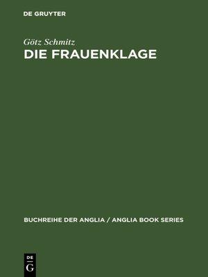 cover image of Die Frauenklage