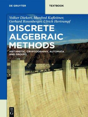 cover image of Discrete Algebraic Methods